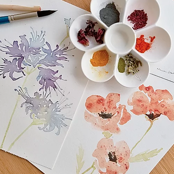 Natural PIgments & Dyes Watercolour Workshop